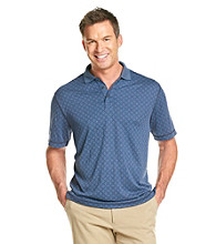 Paradise Collection® Men's Modal Slub Geo Print Polo