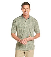Paradise Collection® Men's Modal Slub Tropical Leaf Print Polo