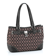 Nine West® Black Jacquard Shopper