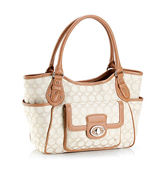 Nine West® Winter White Lurex Jacquard Shopper
