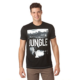 "Calvin Klein Jeans® Men's Black ""Jungle City"" Graphic Tee"