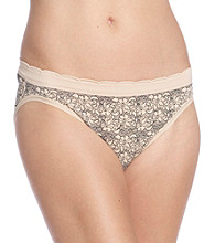 Relativity® Seamless Print High Cut Briefs