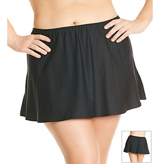 "Coco Reef Plus Size ""Solids"" Skirted Bottom"