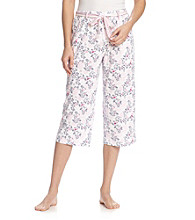 KN Karen Neuburger Knit Capri Pants - Blush Floral
