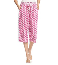 KN Karen Neuburger Knit Capri Pants - Flower Dot