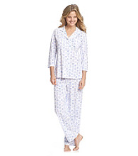 Aria® Knit Pajama Set - Blue Vases