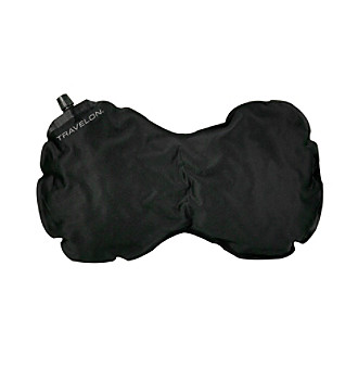 Travelon® Self-Inlfating Black Neck and Back Pillow
