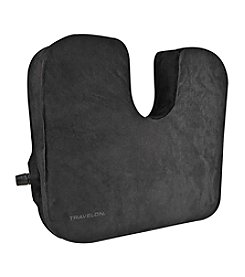Travelon® Self-Inflating Black Seat Cushion