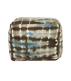 Chic Designs Square Tie Dye Brown Pouf