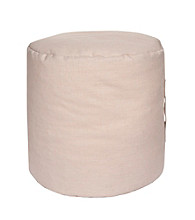 Surya Round Neutral Pouf
