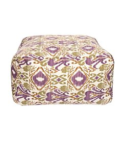 Chic Designs Square Ikat Pouf