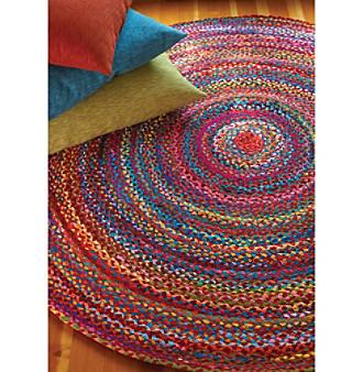 ... UPC 843449009629 Product Image For Extra Weave USA Carnival 5u0027 Round Rug  | Upcitemdb.