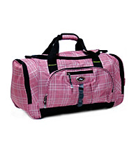 CalPak Hollywood Plaid Multi-Pocket Duffel Bag