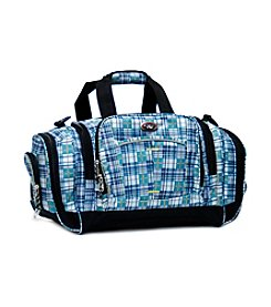 Calpak Silverlake Plaid Multi-Pocket Duffel Bag