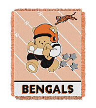 Cincinnati Bengals Baby Teddy Bear Throw
