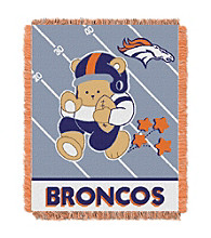 Denver Broncos Baby Teddy Bear Throw