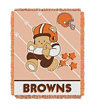 Cleveland Browns Baby Teddy Bear Throw