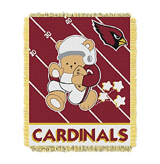 Arizona Cardinals Baby Teddy Bear Throw