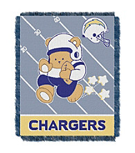 San Diego Chargers Baby Teddy Bear Throw