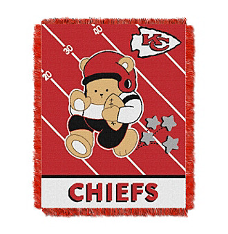 Kansas City Chiefs Baby Teddy Bear Throw