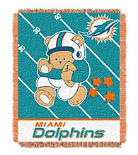 Miami Dolphins Baby Teddy Bear Throw
