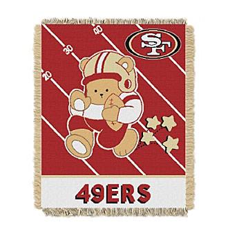 San Francisco 49ers Baby Teddy Bear Throw