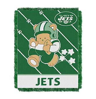 New York Jets Baby Teddy Bear Throw