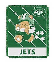 New York Jets Baby Teddy Bear Throw