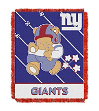 New York Giants Baby Teddy Bear Throw