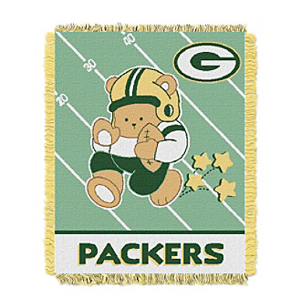 Green Bay Packers Baby Teddy Bear Throw