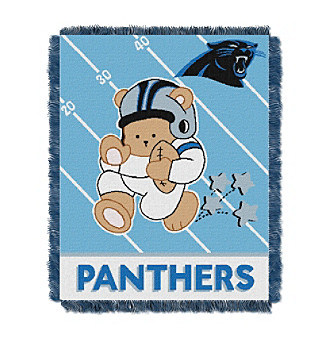 Carolina Panthers Baby Teddy Bear Throw