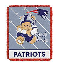 New England Patriots Baby Teddy Bear Throw