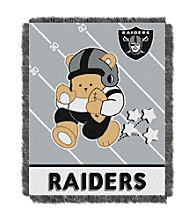 Oakland Raiders Baby Teddy Bear Throw