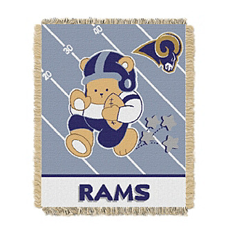 St. Louis Rams Baby Teddy Bear Throw