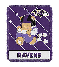 Baltimore Ravens Baby Teddy Bear Throw