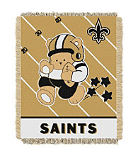 New Orleans Saints Baby Teddy Bear Throw