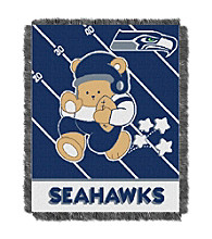 Seattle Seahawks Baby Teddy Bear Throw