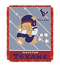 Houston Texans Baby Teddy Bear Throw