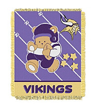 Minnesota Vikings Baby Teddy Bear Throw