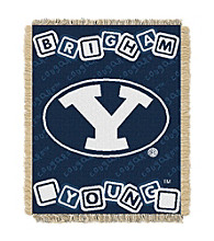 Brigham Young University Baby College Throw
