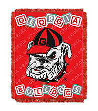 University of Georgia Baby College Throw