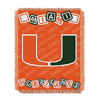University of Miami Baby College Throw