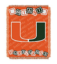 University of Miami Baby College Throw