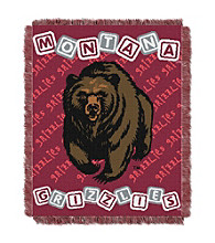 University of Montana Baby College Throw