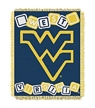 West Virginia University Baby College Throw