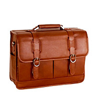 McKlein Beverly Brown Leather Laptop Case