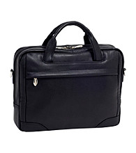 McKlein Montclare Black Small Laptop Briefcase