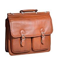 McKlein Hazel Crest Leather Couble Compartment Laptop Case