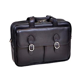 McKlein Hyde Park Black Double Compartment Latpop Case