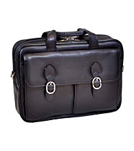 McKlein Hyde Park Black Double Compartment Latpop Case